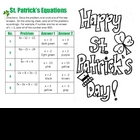 St. Patricks Day - Solving 2 Step Equation Practice -Color