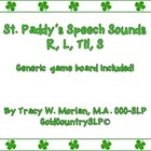 St. Patrick's Day Speech Sounds - R and R blends !