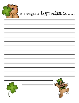 St Patricks Day & Spring Writing Paper