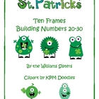 St. Patrick's Day Ten Frames Building Numbers 20-30