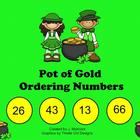 St. Patrick's Day-Themed Smartboard Ordering Numbers