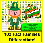 St. Patrick's Day Math Triangle Fact Families-102 Fact Fam