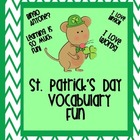 St. Patrick&#039;s Day Vocabulary Fun