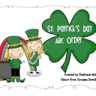 St. Patricks Day Vocabulary Words ABC Order