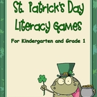 St. Patrick's Day Vowel Sounds Literacy Centers