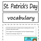 St. Patrick&#039;s Day Word Cards