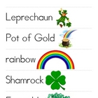 St. Patrick&#039;s Day Word &amp; Picture Vocab Cards