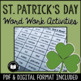 St. Patrick's Day Word Work Activity Packet