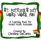 St. Patrick's Day Word Work Fun!