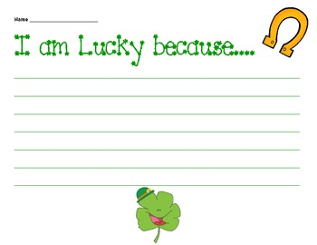 St. Patrick's Day Writing Activities or Writing Center