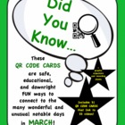 St. Patrick's Day and More! - Did You Know...QR Code Cards