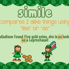 St. Patrick's Day themed simile  and metaphor posters