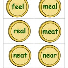 St. Patrick's Golden Words-Long e word cards (digraph ee, ea & y)