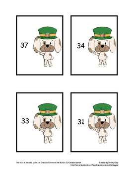 "St. Patrick's Puppies ""Find the Difference"" Math Center: n"