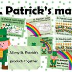 St. Patrick's bundle for math