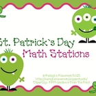 St. Patty&#039;s Day Math Stations