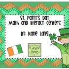 St. Patty's Day Math and Literacy Centers
