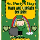 St. Patty&#039;s Day Math and Literacy Centers with Tic-Tac-Toe Rubric