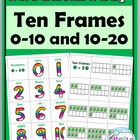 St. Patrick's Day Shamrock Ten-Frames Matching Games - Num