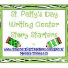 St. Patty's Day Story Starter Writing Prompts