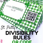 St. Patty&#039;s Divisibility Rules QR Code Fun - FREE
