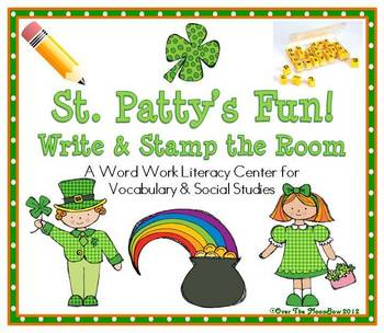 St. Patty's Fun! Write / Stamp the Room Activity Pack