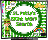 St. Patty's Sight Word Search SMART BOARD PROMETHEAN Game - FREE