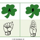St Patty&#039;s Sign Language ABCs