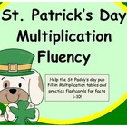 """St.Patrick's Day"" Multiplication Tables and Flashcards!"