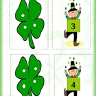 St.Patrick's Day  number game set.