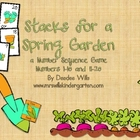 Stacks Game for a Spring Garden 1-10 and 11-20