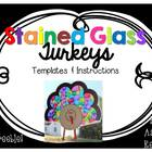 Stained Glass Turkey Template {FREEBIE!}