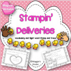 Stampin Deliveries Ready to Go Writing or Math Word Center