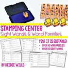Stamping Words Fun: High Frequency and Word Families-Editable!