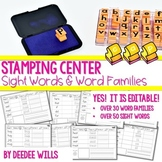 Stamping Words Fun: Sight Words and Word Families-Editable!