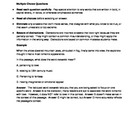 Standardized Assessment Preparation Packet