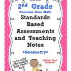 Standards Based Assessment: 2nd Grade Math Geometry {Common Core}