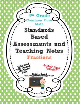 Standards Based Assessment: 4th Grade Math Fractions {Comm