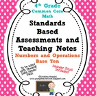 Standards Based Assessment: 4th Grade Math Numbers and Ope