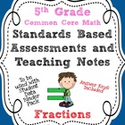 Standards Based Assessment: 5th Grade Math Fractions {Comm