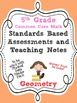 Standards Based Assessment: 5th Grade Math Geometry Graphi