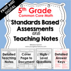 Standards Based Assessments:5th Grade Math *ALL STANDARDS*
