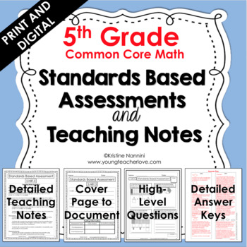 Standards Based Assessments: 5th Grade Math *ALL STANDARDS* {Common Core}