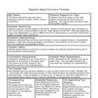 Standards Based Curriculum Template