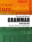 Standards Based Grammar: Grade 4 Soft Cover