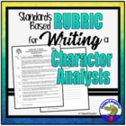 Standards Based Rubric for Analyzing Character