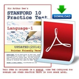 SAT-10 (Stanford) Practice Test in Language-Grade 1