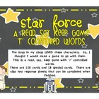 Star Force - Read, Say, Keep game with  &#039;r&#039; controlled words