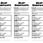Star Homework- Universal Homework Model