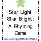 Star Light Star Bright: A Rhyming Activity Game